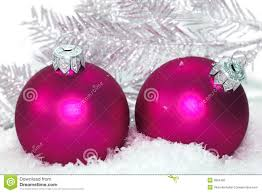 Pink Christmas Balls Royalty Free Stock Photo - Image: 3863405