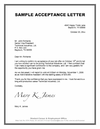 Acceptance Letter Sample 24 Professional Job Offer Acceptance Letter Email Templates 1