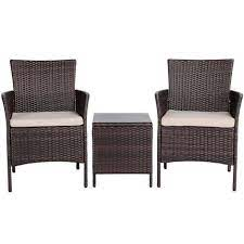 rattan wicker chairs and coffee table