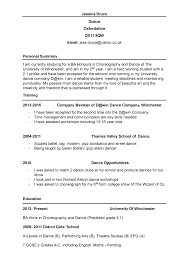 Dance Resume Gallery of dance cv my dance journey Dance Resume Example 56