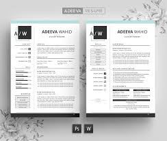 Simple Resume Template Wahid Resume Templates Creative Market
