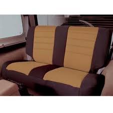 3 7 days rear seat cover neoprene light tan smittybilt jeep wrangler yj