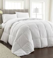 square checks white double duvet by the home talk
