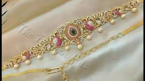 Gold Waist Chain Designs Latest Bridal Gold Belly Chain Belt Designs With Pearls And Diamond 1gram Gold Kamarband Designs