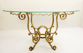 mid century gilded wrought iron dining