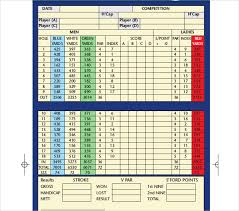 Golf Score Card Template 10 Golf Scorecard Templates Pdf Word Excel Free Premium