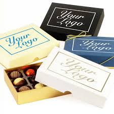 bespoke branded promotional 12 choc your logo large personalised chocolate gift box group