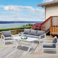 outsunny 4 piece garden furniture set