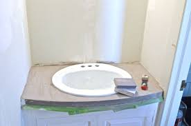 Refinish Bathroom Vanity Top How To Refinish Bathroom Sink Bathroom Sinks Decoration