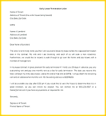 Terminate A Lease Letter Termination Of Tenancy Template End Agreement Letter From
