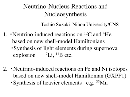 Synthesis Of Light Elements Neutrino Nucleus Reactions And Nucleosynthesis Ppt Download