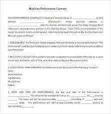 15 Performance Contract Templates Word Pdf Google Docs