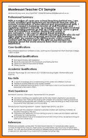 montessori teacher resume sample .montessori-teacher-cv-sample.jpg