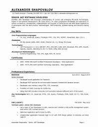 Certified Developer Resume 018 Bestdeas Of Resume Format For Year Experience Dot Net