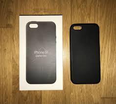 authentic original apple iphone se leather case black mobile phones tablets mobile tablet accessories on carou
