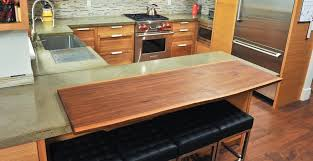 walnut wood and concrete countertop by yves st hilaire cheng concrete exchange
