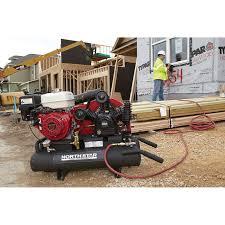 portable gas air compressor. free shipping \u2014 northstar gas-powered air compressor honda gx270 ohv engine, 8-gallon twin tank, 14.9 cfm @ 90 psi | gas powered compressors| northern portable