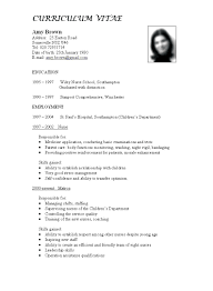 Teacher Curriculum Template Teacher Curriculum Vitae Template Free With English Sample