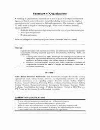 Sample Resume Summary Statement Sample Resume Summary Statement Best Of Strong Resume Summary 33
