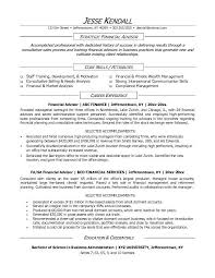 Sample Resume For Financial Services 5 Financial Advisor Sample Resume Financialstatementform
