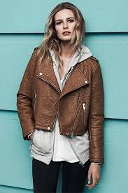 brown biker jacket made of faux leather affordable fashion dresses clothes jennifer kaya fashion