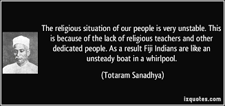 unsteady people. the religious situation of our people is very unstable. this because lack unsteady