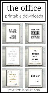 Funny Office Quotes Magnificent The Office Printable Art Quotes Psychedelic Doilies