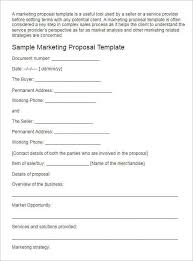 Sample Proposal For Marketing Services Under Fontanacountryinn Com
