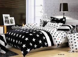 bed sheet designing embroidery design black and white star bedding sets bed sheet set