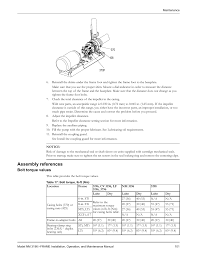 Bolt Tightening Torque Chart In Nm Assembly References Bolt Torque Values Goulds Pumps Nm
