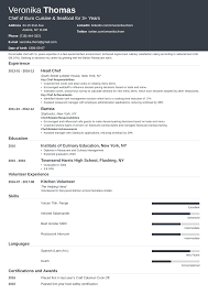 Assistant Chef Resumes Chef Resume Sample Complete Guide 20 Examples