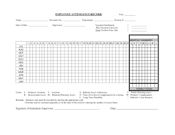 10 Printable Attendance Sheet Examples Pdf Word Examples