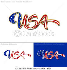 american flag word art usa flag caligraphic text vector illustration of a custom made