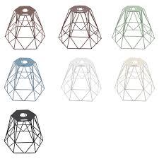 Elektek Vintage Mora Hexagonal Large Polyangle Cage Wire Frame Lamp