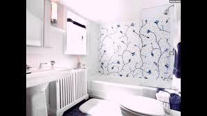 Mosaik Fliesen Badezimmer Weiss Badwanne Cintage Klo Blau Blumen