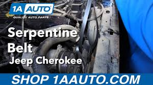 how to replace serpentine belt 96 99 jeep cherokee