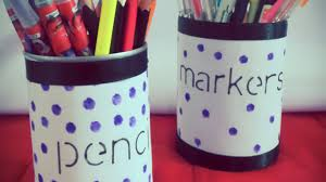 How To Make Cute Tin Can Pencil Holders - DIY Home Tutorial - Guidecentral  - YouTube