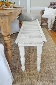 diy old window shutter bench