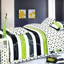 bright colored duvet cover sets lime green black dot stripe teen bedding king duvet cover sets