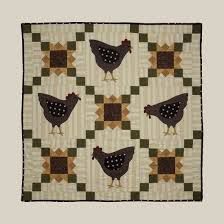 125 best Chicken quilts images on Pinterest | Appliques, Easter ... & Primitive Quilt Pattern - Home to Roost, Quilt Pattern by Bonnie Sullivan,  All Through the Night Patterns Adamdwight.com