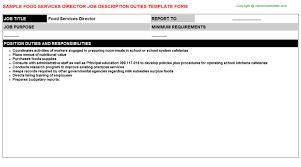 food services director job description service director job description