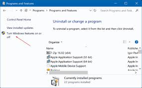 Window 10 Features How To Turn Windows 10 Features On Or Off