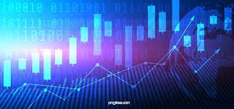 Blue Stock Market Data K Line Background Illustration Stock