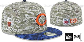 Chicago Fitted Bears Desert-navy Salute-to-service 2015 Hat