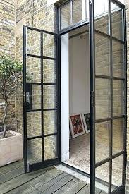 best of steel glass doors with beautiful front for your entry metal