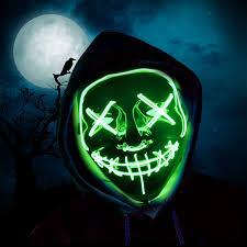 Led Light Up Mask Amazon Halloween Led Mask Light Up Mask Glowing Mask For Festival Cosplay Halloween Costume Party