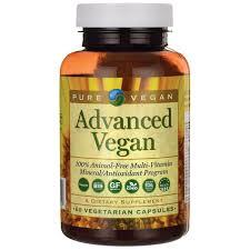 Pure <b>Vegan Advanced</b> Multi-Vitamin and Mineral | <b>60 Veg</b> Caps ...