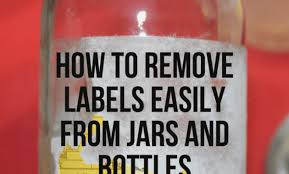 how to remove labels easily from jars and bottles danish things best way to