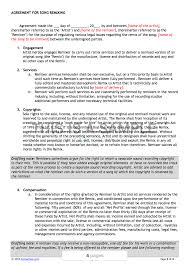 Artist Agreement Contract Song Remix Contract Template 7