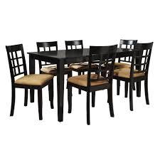 7 piece black dining room set. HomeSullivan 7-Piece Black Dining Set 7 Piece Room R